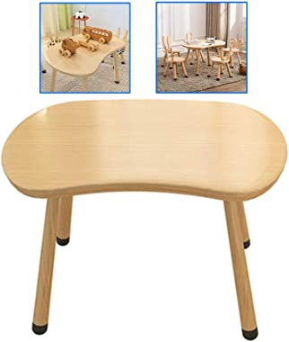 Children's Study Table Home Study Table Children's Game Toy Table Writing Table Solid Wood Children's Study Desk (Color : Khaki, Size : 755550cm)