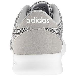 adidas Women's Cloudfoam QT Racer Running Shoe White/Clear Onix, 8 M US
