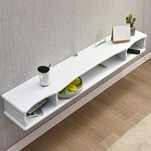 Wandmontage TV Kast Zwevende Plank Wandplank Multimedia Opslag Plank TV Console Multifunctionele Display Plank Wit 1.0M/1.2M