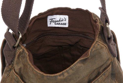 Frankie's Garage S11081004-020, Borsa a tracolla unisex adulto, 24 x 27 x 7 cm (L x A x P), Marrone (Braun (darkbrown 020)), 24x27x7 cm (L x A x P)