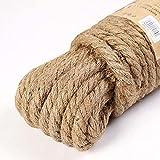 Modis 10mm Cuerda de Yute Natural Cuerda Trenzada DIY Craft Hecho a Mano Decoración del hogar Gato Escalada Frame3m a 50m