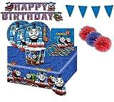 Kit per Compleanno Bambini Trenino Thomas n.57 Il Bellissimo Cartone Animato Inglese per Bambini Nato nel 1984 Il Cui Nome Originale è ThomasThe Tank Engine & Friends