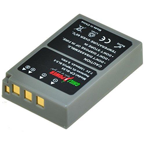 ChiliPower PS-BLS5, PS-BLS50, BLS-5, BLS-50 - Batería para Olympus OM-D E-M10, Pen E-PL2, E-PL5, E-PL6, E-PL7, E-PM2 y Stylus 1