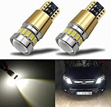 KISLED Newest 12-24V Super Bright 194 912 921 168 175 2825 W5W T10 LED Bulbs with Projectors for Side Marker Cargo High Mount 3rd Brake Lights, Xenon White