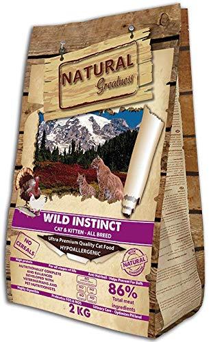 Natural Greatness Pienso seco para Gatos Receta Wild Instinct. Ultra Premium - Cat & Kiiten - Todas Las Razas. 2 kg
