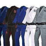 Sanabul Essentials V.2 Ultra Light Pre Shrunk BJJ Jiu Jitsu Gi (Grey, A2) See Special Sizing Guide