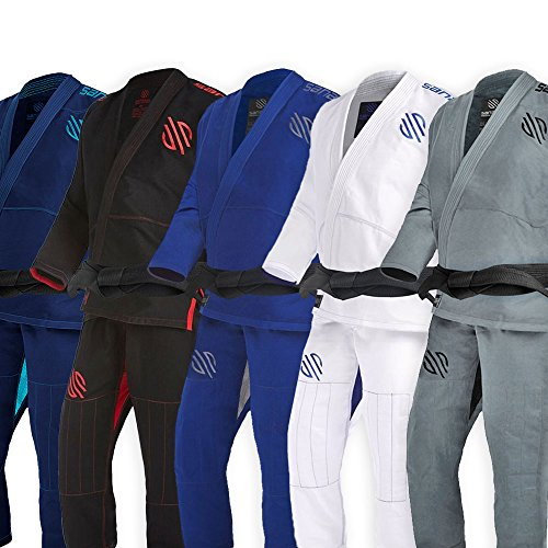 Sanabul Essentials V.2 Ultra Light Pre Shrunk BJJ Jiu Jitsu Gi (Grey, A4) See Special Sizing Guide