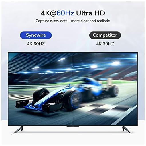 Syncwire Cable USB C a HDMI 4K@60Hz - [Chapado en Oro 24K] Cable Tipo C 3.1 a HDMI 1.8M Nylon Trenzado [Thunderbolt 3… 2