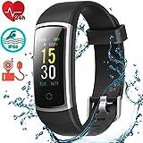 Orologio Fitness Tracker Cardiofrequenzimetro da Polso Smartwatch Android iOS Uomo Donna Bambini...