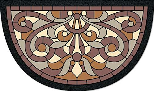 De'Carpet Felpudo Entrada Casa Original Divertido Moderno Flocado Media Luna Vintage 40x70