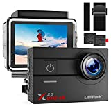 Campark Action Camera Native 4K Wifi Waterproof Camera with GoPro Compatible Accessories 16MP 170° Wide Angle