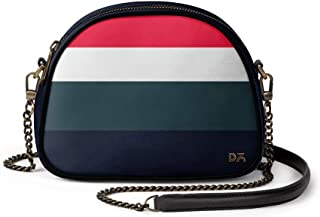 DailyObjects Deep Quad Arch Sling Crossbody Bag for girls and women | Vegan leather, Stylish, Sturdy, Zip closure, with Ch...