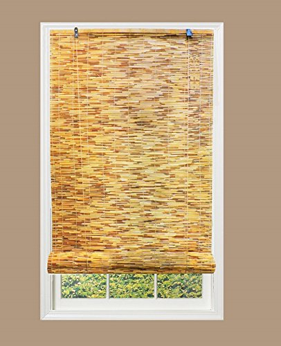 "Lewis Hyman Woven Reed Light Filtering Roll, 48"" W X 72"" L, Natural Window Blinds"