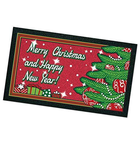 ARREDIAMOINSIEME-nelweb Zerbino Gomma Antiscivolo Natale Merry Christmas 40x70cm Retro Antiscivolo 100% Made in Italy MOD.Albero