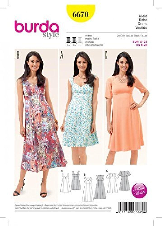 Burda Ladies Sewing Pattern 6670 Summer Dresses by Burda