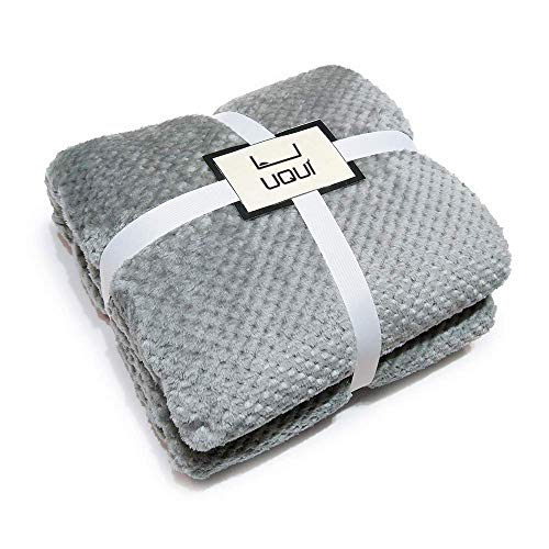 """Fuzzy Blanket Soft Gray Large Throw Blanket Anti-static Fleece Blanket Lightweight Warm Bed Blanket Cozy Decorative Blankets for Couch Travel Sofa All Seasons Suitable for Women, Men and Kids,60""""x80"""""""