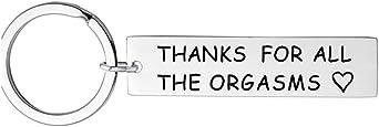 """Yinew - Portachiavi rettangolare con scritta """"Thank For All The Orgasms"""" (lingua italiana non garantita)"""