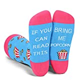 Funny Saying If You Can Read This Bring Me Popcorn Socks-Funny Novelty Popcorn Gifts For Women Popcorn Lovers