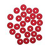 JVSISM 90 Unids de Teclado de Piano de Fieltro Riel Delantero Que Regula las Perforaciones Piezas de Reparación (Rojo)