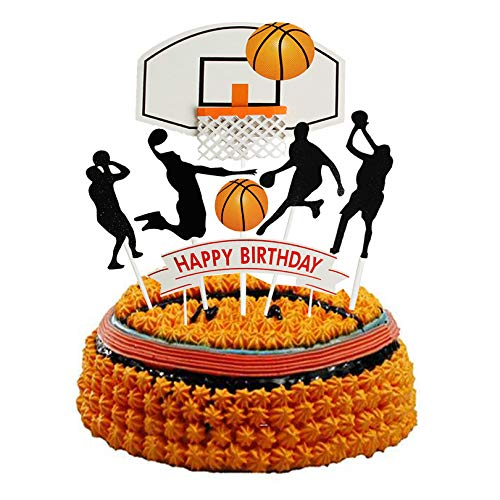 Set of 7 Basketball Letters DIY Happy Birthday For Boy Cake Topper Sport Cake Party Decorations Sports Party Supplies