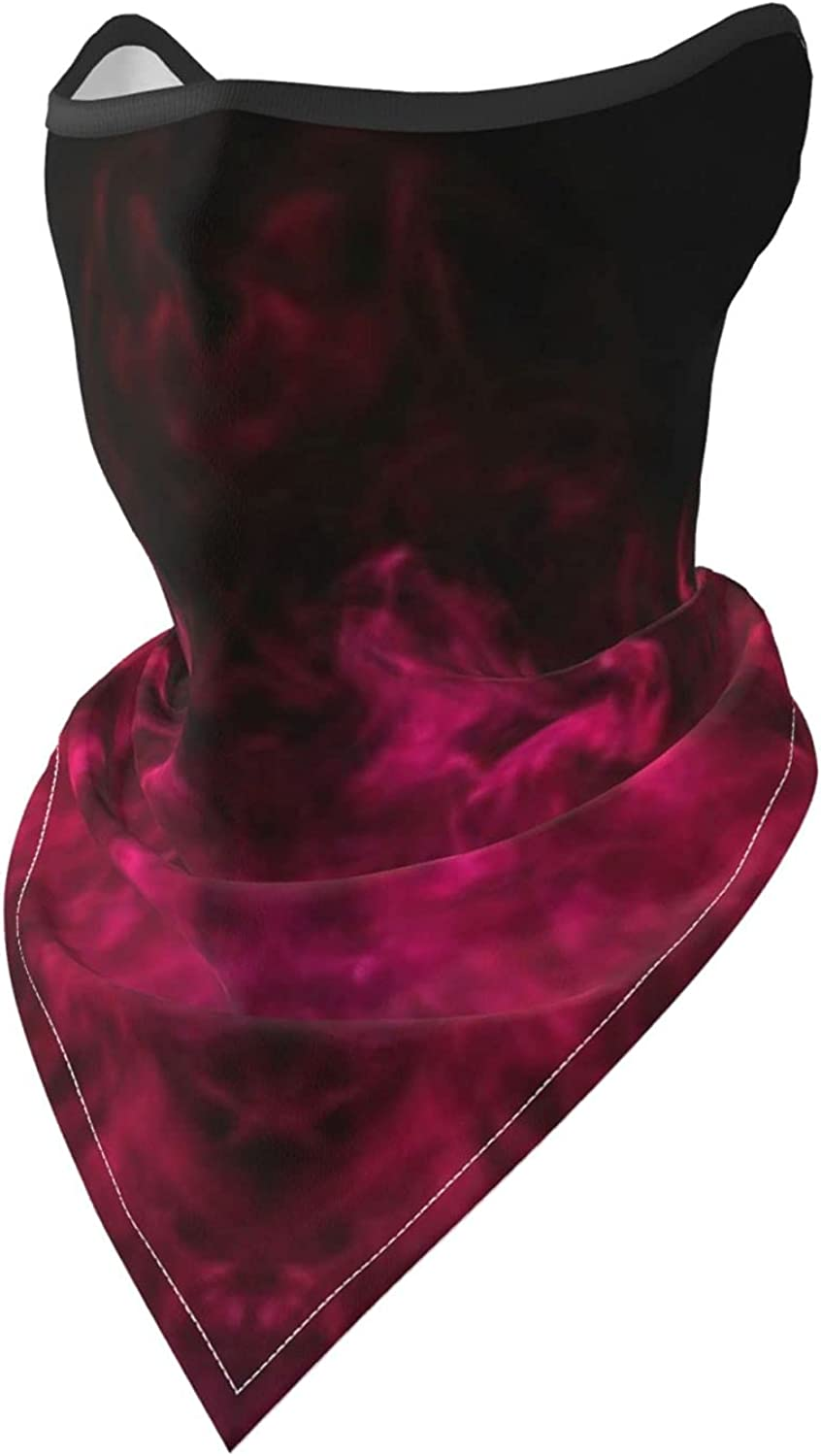 Red Colors Smoke and Skull Monster Breathable Bandana Face Mask Neck Gaiter Windproof Sports Mask Scarf Headwear for Men Women Outdoor Hiking Cycling Running Motorcycling