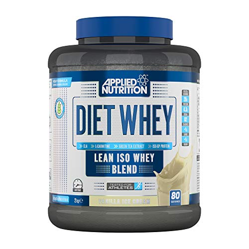 Applied Nutrition Diet Whey Protein Powder Supplement Low Carb & Sugar High Protein, Weight Loss, with CLA Gold, L Carnitine, Green Tea, High Phd Standard 2kg - 80 Servings (Vanilla Ice Cream)