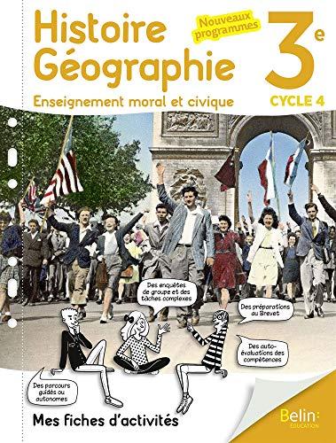 Mon cahier d'Histoire Géographie EMC 3ème PDF Books