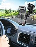 Mpow Porta Cellulare da Auto, Supporto Auto Smartphone con Ventosa per Cruscotto Parabrezza per Telefono da Scrivania, 2 Livelli di Aspirazione, per GPS, iPhone, Galaxy, Xiaomi, MP3, ed ECC, Grigio