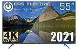 "EAS Electric   E55AN90H   Televisor Negro   Televisión 55 Pulgadas   Smart TV 55""   LED (DLED)   Ultra HD 4K 3840 x 2160 16:9   DVB-T/T2/C/S/S2 HEVC   WiFi   Android TV   Google Cast   USB 2   HDMI 3"