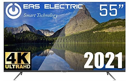 "EAS Electric | E55AN90H | Televisor Negro | Televisión 55 Pulgadas | Smart TV 55"" | LED (DLED) | Ultra HD 4K 3840 x 2160 16:9 | DVB-T/T2/C/S/S2 HEVC | WiFi | Android TV | Google Cast | USB 2 | HDMI 3"