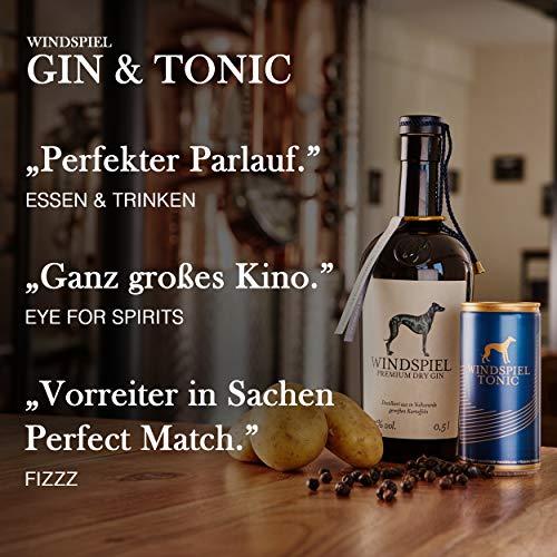 Windspiel Premium Dry Gin 47 % vol. 1 x 0,5 Liter - International ausgezeichneter London Dry Gin aus der deutschen Vulkaneifel - 7