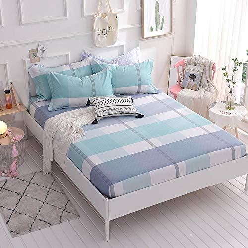 HPPSLT Protector de colchón/Cubre colchón Acolchado, Ajustable y antiácaros. Algodón Antideslizante de una Sola Pieza -16_2.0 * 2.2m