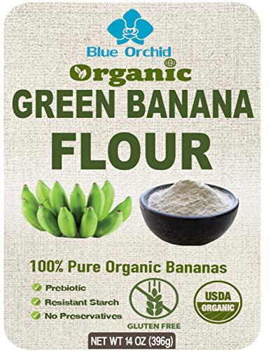 100% USDA Certified - Organic Green Banana Powder - Resistant Starch - Superfood Pre-biotic Smoothie Powder - Flour Substitute for Baking - Gluten-free, Grain-free (14 OZ)