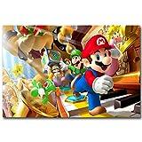 wslgfgk Póster De Anime De Juego De Dibujos Animados De Mario, Lienzo Art Deco Hogar, Mural Sin Marco T1950 50X70Cm