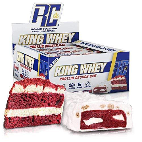 RCSS King Whey Protein Bar Eiweißriegel Proteinriegel Eiweiß Protein 20g Protein pro Riegel 12x57g (Red Velvet Cake)…