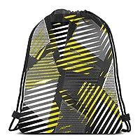 色とりどりのジオメトリ女性のための色とりどりのジオメトリ巾着バックパックジム旅行バッグ用キャンバス巾着バッグ軽量