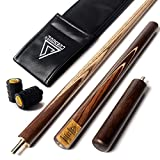 CUESOUL 57' Handcraft 3/4 Jointed Snooker Cue with Extension/Joint Protector Packed in Leatherette Cue Bag D306