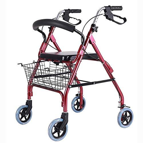 Andadores para discapacidad Andador para Ancianos Carro Antideslizante bastón con el Hospital Andador Plegable de Ancianos Walker