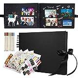 Yosemy Álbum de Fotos Scrapbook 28*21cm DIY Álbum de Recortes 80 Páginas Negras 40 Hojas con 10...