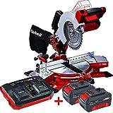 EINHELL - Pack ingletadora bateria Einhell TE-MS 18V / 210 Li + 2 baterias Einhell 18V PXC 3,0Ah Power X-Change + Cargador doble Einhell 18V