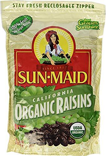 2 LBS Organic Sun Dried California Raisins ( Value 2 Pack ) by Sun Maid