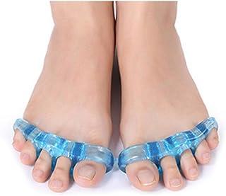 足指ストレッチパッド 広げる 足ゆび 5本指 両足セット 足指矯正 外反母趾 つま先 (中(約11cm))