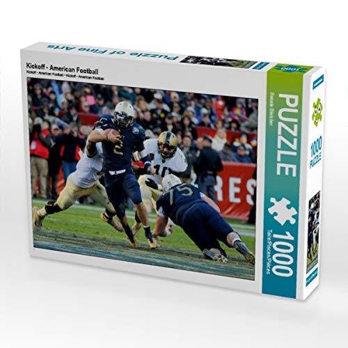 CALVENDO Puzzle Kickoff - American Football 1000 Teile Lege-Größe 64 x 48 cm Foto-Puzzle Bild von Renate Bleicher
