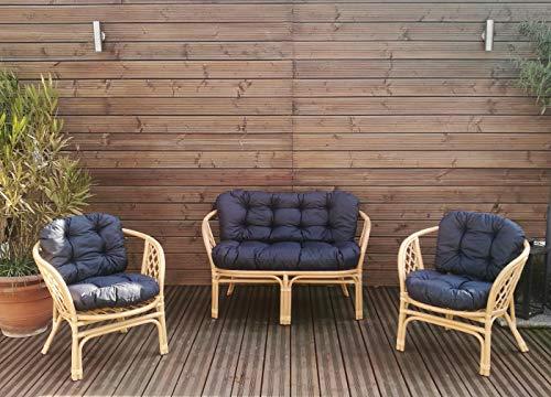 Mayaadi-Home Gartenbankauflagen 6 teiliges Sitzkissen-Set Sitzpolster für Gartengarnitur Set Steve Dunkelgrau JCG1 - 2