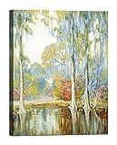 Bild auf Leinwand mit Holzrahmen Alfred Hutty Magnolia Gardens 120x90 CM