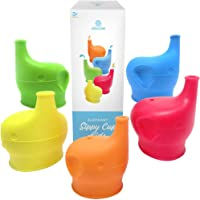 5-Pack Ashtonbee Elephant Silicone Sippy Cup Lids