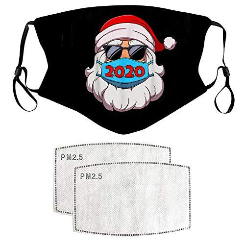 Gerichy Adult_Masks, Christmas Bandanas Adult Unisex Dustproof Reusable Ice Silk Scarf,Washable Breathable Stylish Balaclava