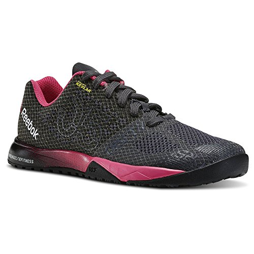 Reebok Crossfit Nano 5.0 Training Shoe (Little Kid/Big Kid) (5 Big Kid M, ASH Grey/Black/Solar Pink)