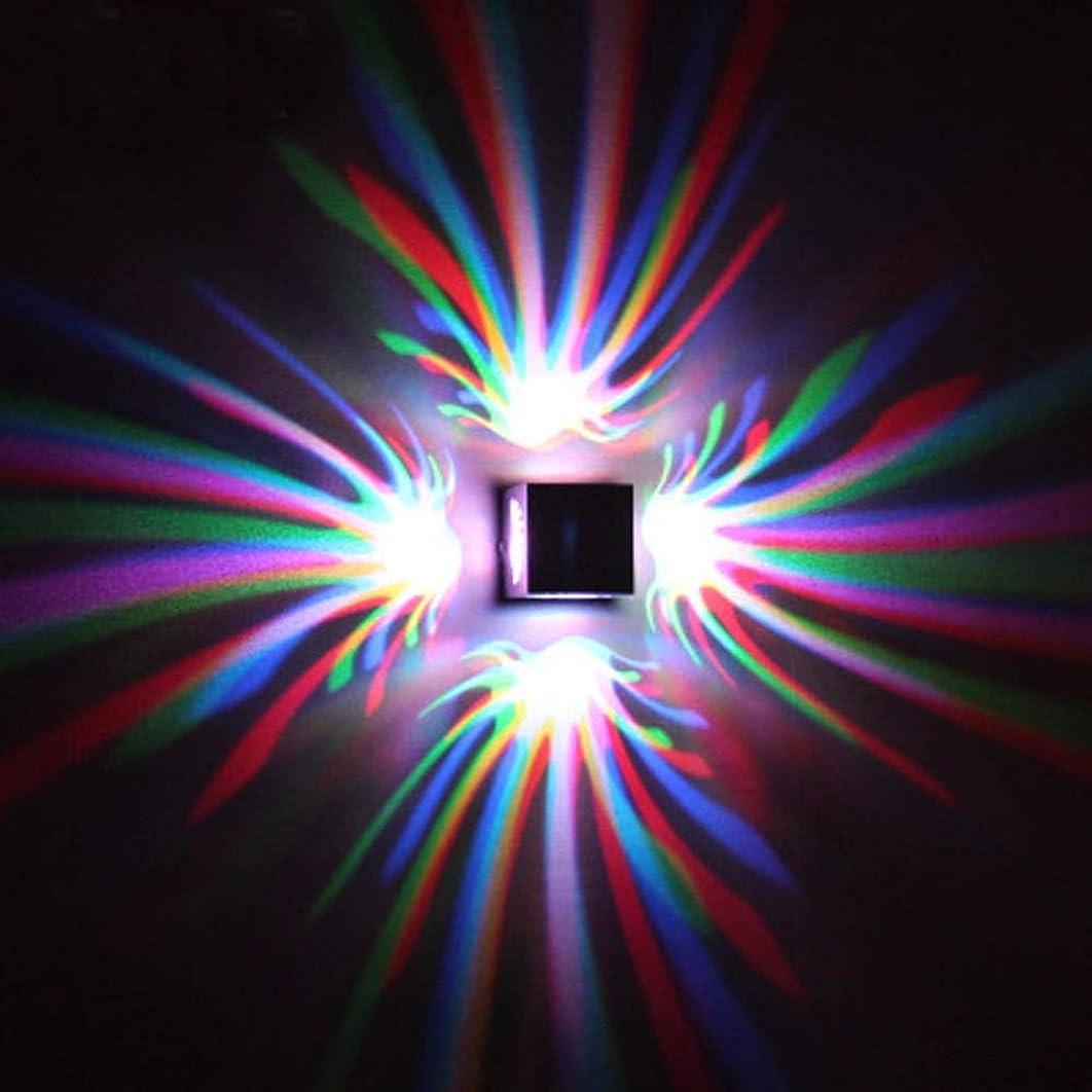 適性ライム予約現代のRGB LEDウォールランプ、3W調光対応LEDウォールライトは、アイル回廊ポーチのために、天井のランプをリモートコントロール?サーフェスをインストールします。 (Color Temperature : RGB (remote control))