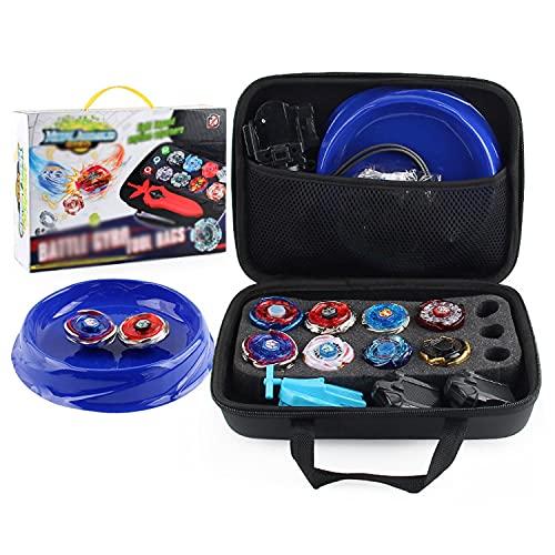 Xbtianxia Spinning Tops Burst con lanzador, caja de almacenamiento Gyro Top Burst Bey Metal Fusion 4D con lanzador Burst Juguetes para niños niños regalo evolución